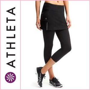 Athleta Skirted Athletic/Athleisure Capri Legging